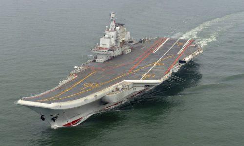 برگزاری اولین رزمایش چین با ناو هواپیمابرش