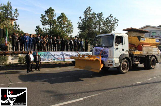 رژه ناوگان خودرویی ستاد مدیریت بحران شهرداری رشت برگزار شد+گزارش تصویری