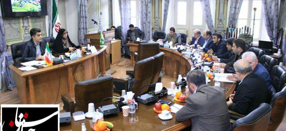گزارش تصویری از جلسه مشترک کمیسیون بهداشت و محیط زیست، و برنامه و بودجه شورای شهر رشت