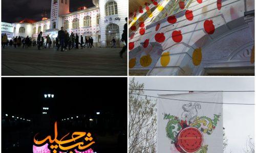 نصب المان ها و تزیین پیاده راه فرهنگی شهرداری نقاط مختلف رشت