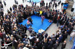 افتتاحیه روز رشت با اجرای تئاتر خیابانی