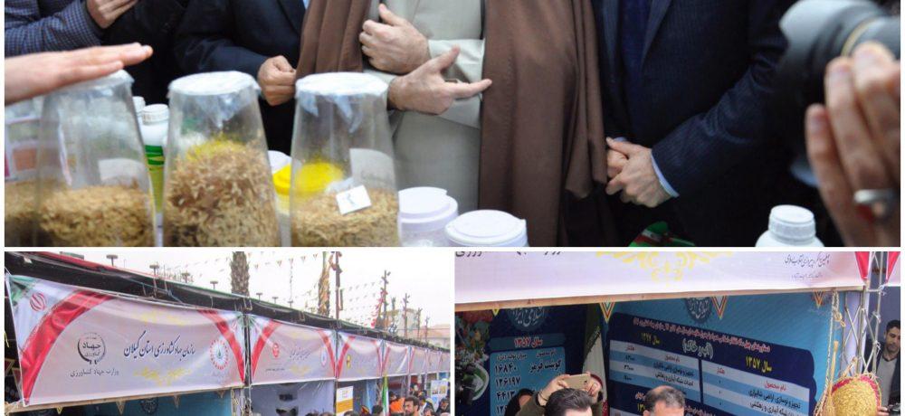 حضور  رئیس سازمان جهاد کشاورزی استان گیلان در نمایشگاه دستاوردهای چهل ساله انقلاب