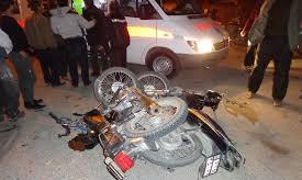 مرگ موتورسوار جوان