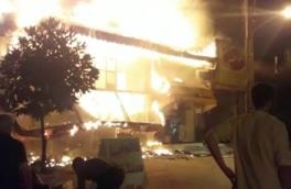 آتش سوزی یک نانوایی در رشت