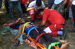 مصدومیت یک نفر بر اثر سقوط از کوه در آستارا