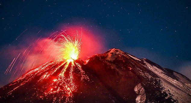 تصاویر حیرت انگیز از فوران آتشفشانها