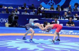 تک مدال کشتی گیر گیلانی در رقابت های فرنگی قهرمانی بزرگسالان کشور