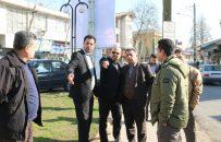 بازدید رئیس شورای شهر و تعدادی از مدیران شهرداری لاهیجان از پارک بانوان و پروژه های شهرداری