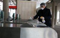 ایستگاه های راه آهن گیلان و سالنهای قطار به طور مستمر ضدعفونی می شود
