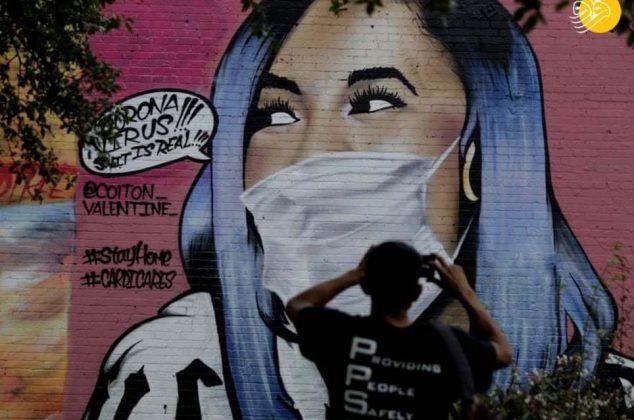 (تصاویر) نقاشیهای خیابانی از ویروس کرونا