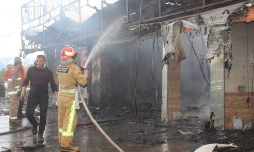 بیاحتیاطی حادثه آفرید؟! آتشسوزی چهار باب مغازه در آستانهاشرفیه