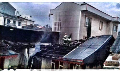 آتش سوزی خانه در رشت