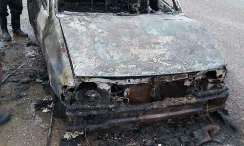 آتش سوزی خودرو در تالش