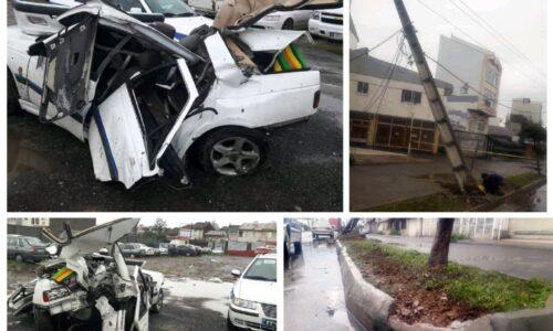 ۲ سرنشین خودرو، قربانی بی احتیاطی راننده