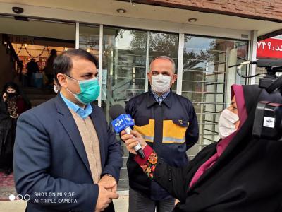 بازدید سرزده فرماندار رشت از ادارات در راستای نظارت بر نحوه رعایت پروتکل های بهداشتی