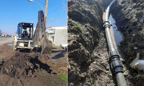 اصلاح و توسعه ۳۷۰ متر از شبکه های آبرسانی روستایی شهرستان رشت