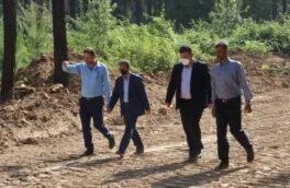 گزارش تصویری بازدید شهردار رشت از روند احداث باغ ۴۷۷ هکتاری لاکان
