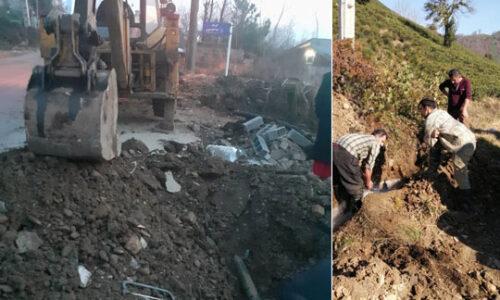 اصلاح شبکه آبرسانی روستاهای کوه بیجار و سوستان لاهیجان
