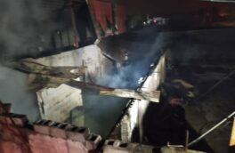 آتشسوزی ۲ کارگاه چوب بری در جاده جیرده رشت